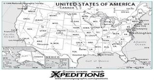 EE.UU. Mapa