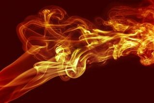 efecto de remolino de humo