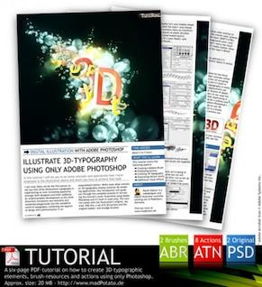 efectos d producido la acción ps y brochas, y PSD tutoriales pdf