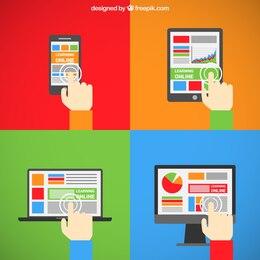 El aprendizaje en línea en diferentes pantallas