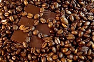 el chocolate y el café de cristal