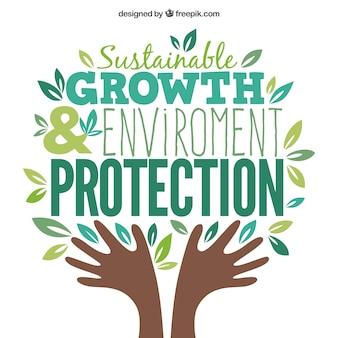 El crecimiento sostenible y la protección del medio ambiente