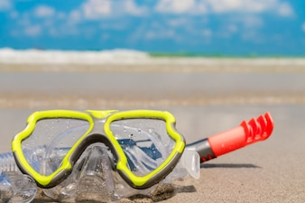 El deporte acuático costa fondo respiratoria de aire