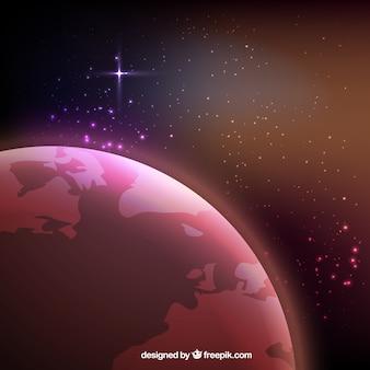 El espacio brillante y Marte