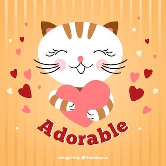 El gato adorable