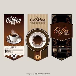 el menú elegante cafetería precio tabla de vectores