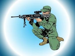 El objetivo soldado arma vector arma