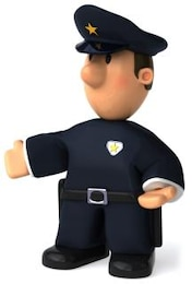 el oficial de policía