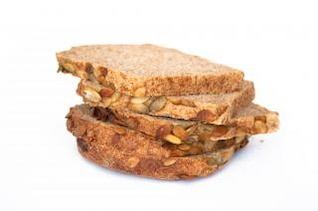el pan de molde de alimentos