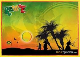 el reggae de gráficos vectoriales