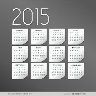 Elegante calendario para 2015