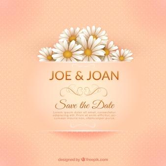 Tarjeta de invitación de boda elegante