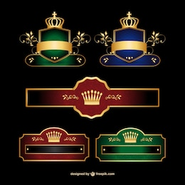 Elegante conjunto de la bandera logo vector