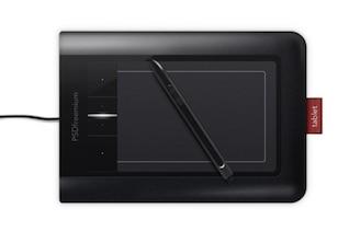 elegante negro tableta de Wacom Bamboo icono de PSD
