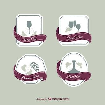 Elegantes etiquetas de vino