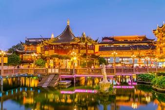 Elementos china tradicional pueblo ritmo de destino