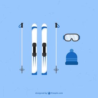 Elementos de deportes de invierno