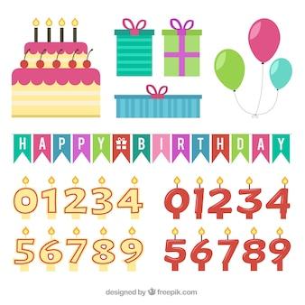 Elementos de fiesta de cumpleaños