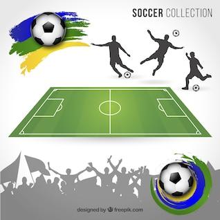 Elementos de fútbol Brasil