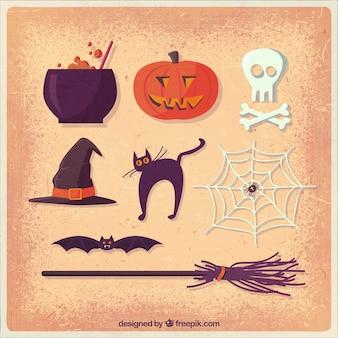 Elementos de Halloween ilustración