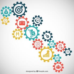 Elementos de Infografía de negocio