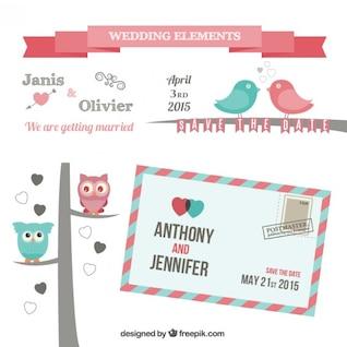 Elementos de la boda