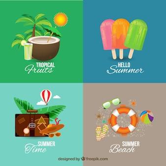 Elementos de la colección de verano