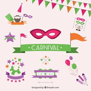 Elementos de la fiesta de Carnaval