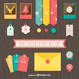 Elementos de Navidad vintage