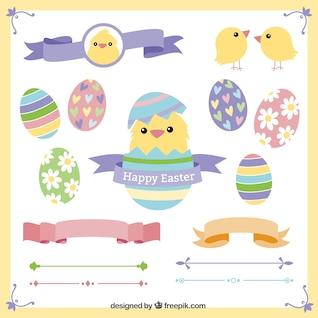 Elementos decorativos de Pascua
