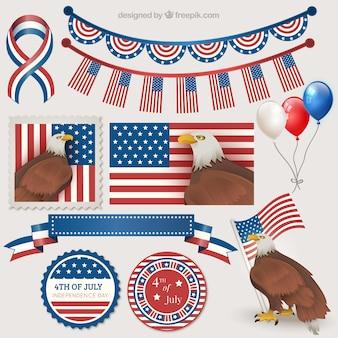 Elementos decorativos día de la Independencia