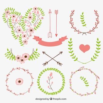 Elementos florales decoración