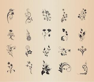 Elementos florales del vintage