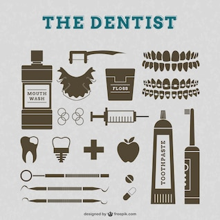 Elementos gráficos de dentistas