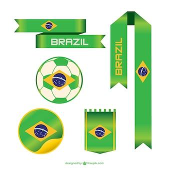 Elementos gráficos de fútbol de Brasil