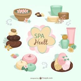 Elementos gráficos de salud y spa