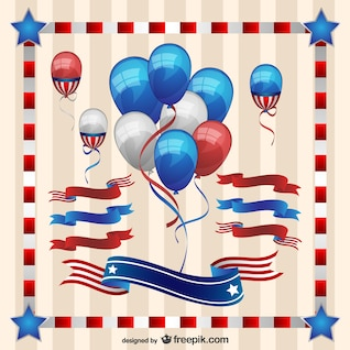 Elementos gráficos para el Día de la Independencia