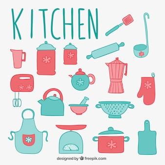 Elementos lindos de cocina