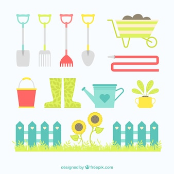 Bote fotos y vectores gratis for Elementos de jardineria