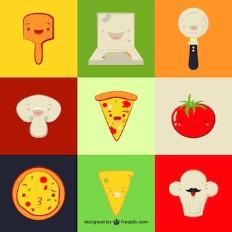 Elementos restaurante italiano divertidos