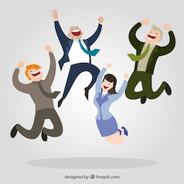 Empresarios felices