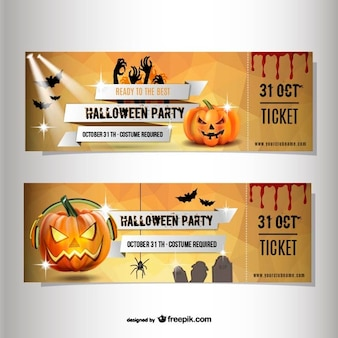 Entradas para fiesta de disfraces de Halloween