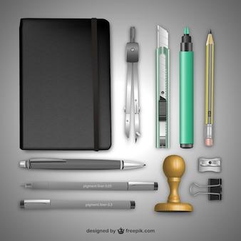 Equipos de oficina realistas