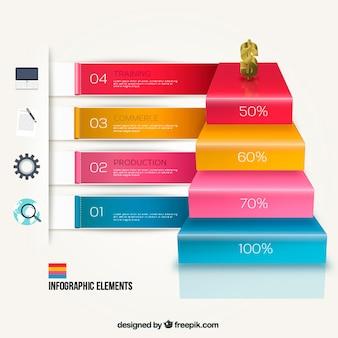 Escaleras infografía