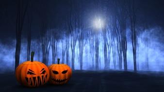 Escalofriante escena de halloween