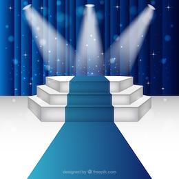 Escenario podio iluminado
