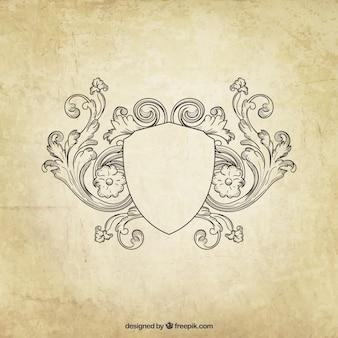 Escudo con retro adornos