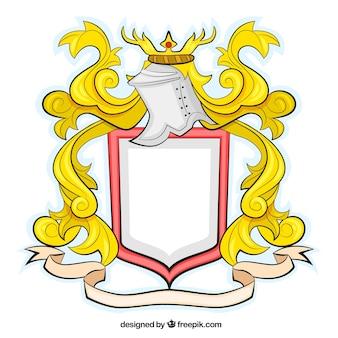 Escudo medieval en el estilo ornamental