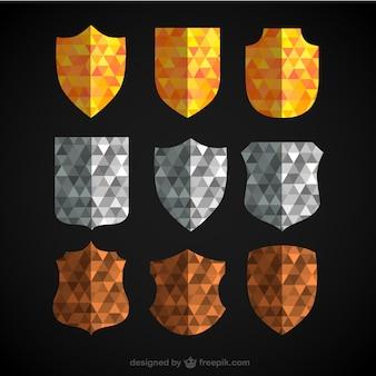 Escudos poligonales