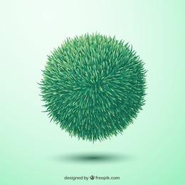 Esfera de hierba verde